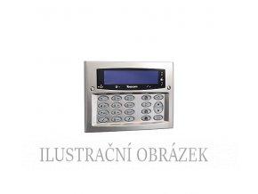 Matně chromovaná klávesnice Premier Elite LCD SCH se čtečkou a modrým podsvícením