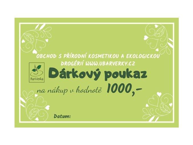 Dárkový poukaz - 1000,-