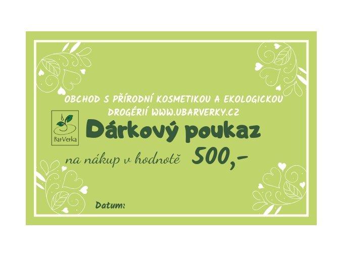 Dárkový poukaz - 500,-