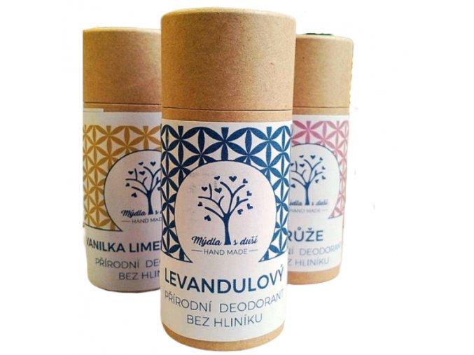 Mýdla s duší XXL přírodní deodorant levandule 65g  non toxic