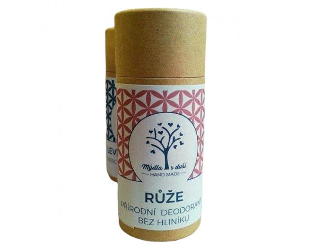 Mýdla s duší XXL přírodní deodorant růže a geranium 65g  non toxic