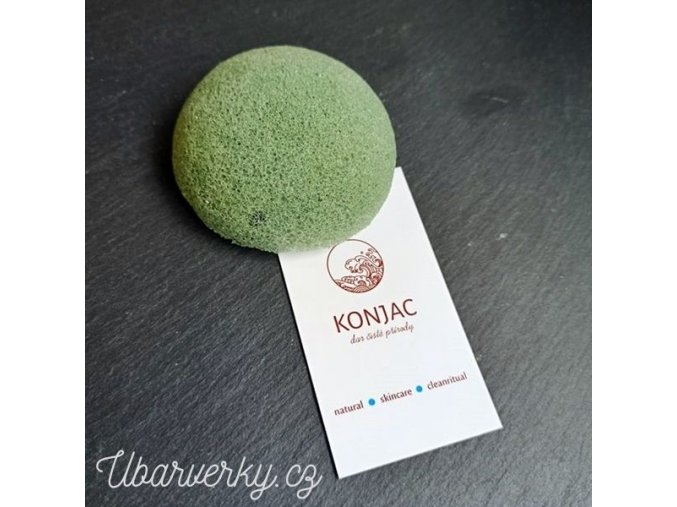 konjak houbicka s extraktem ze zeleneho caje