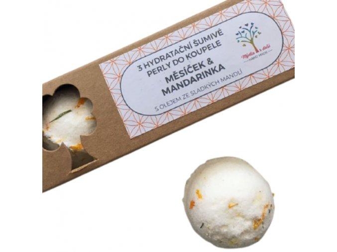 Mýdla s duší šumivé perly do koupele - měsíček a mandarinka 3ks