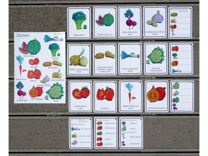 Malá Áňa Karty Naše zelenina + A4