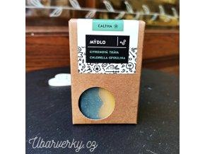 Přírodní mýdlo s citronovou trávou chlorellou a spirulinou
