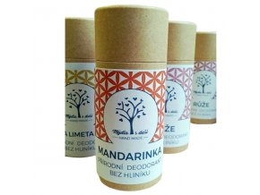 Mýdla s duší XXL přírodní deodorant mandarinka 65g  non toxic