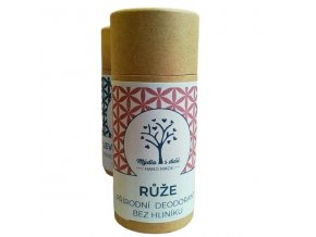 Mýdla s duší XXL přírodní deodorant růže 65g  non toxic