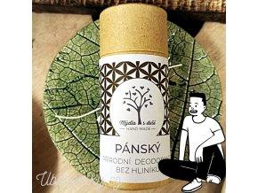 Mýdla s duší XXL pánský tuhý deodorant s pačuli a citrusy 65g