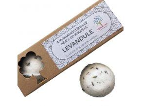 Mýdla s duší šumivé perly do koupele - levandule 3ks