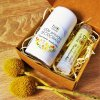přírodní deodorant a balzám na rty