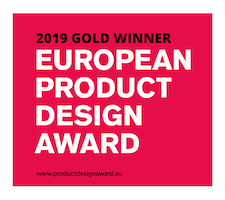 European product design award 2019 Gold winner