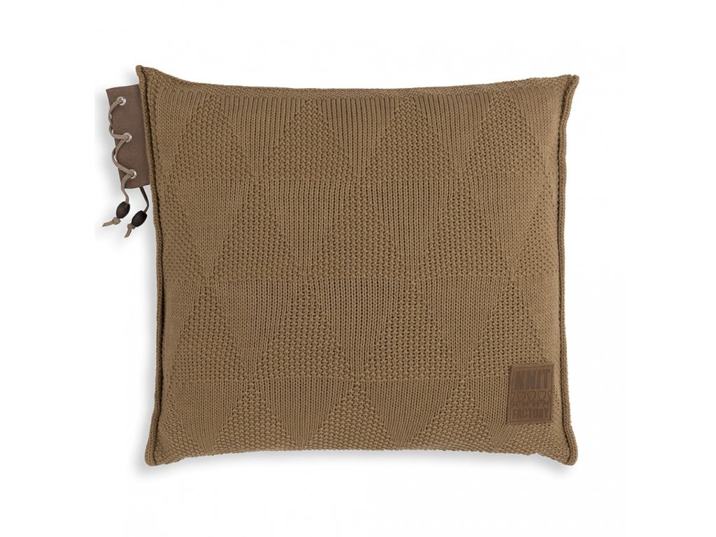 Knit Factory 1341220 Jay Kussen 50x50 new camel (1)