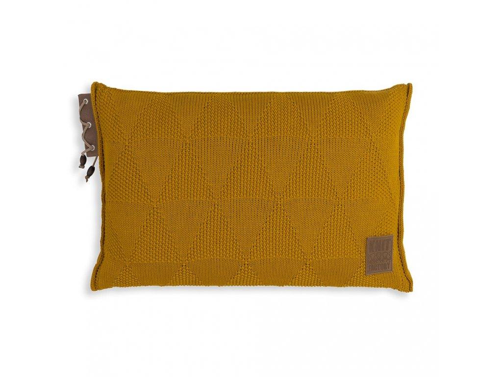 Knit Factory 1341317 Jay Kussen 60x40 oker (1)
