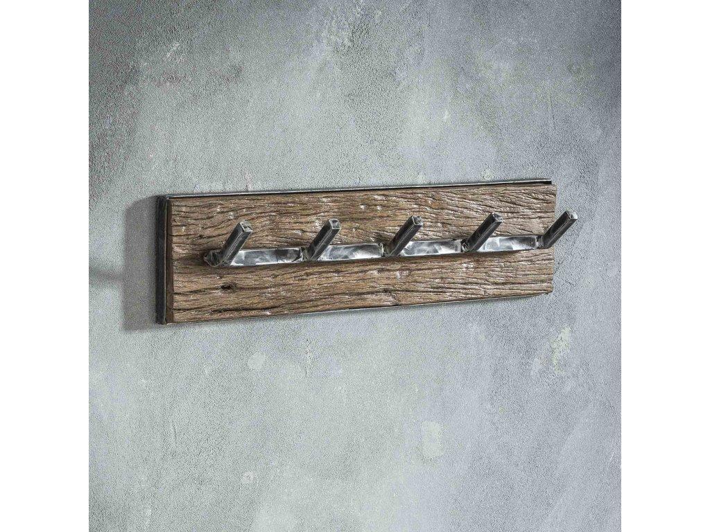 dřevěný věšák GRAINED 5 háčků,
