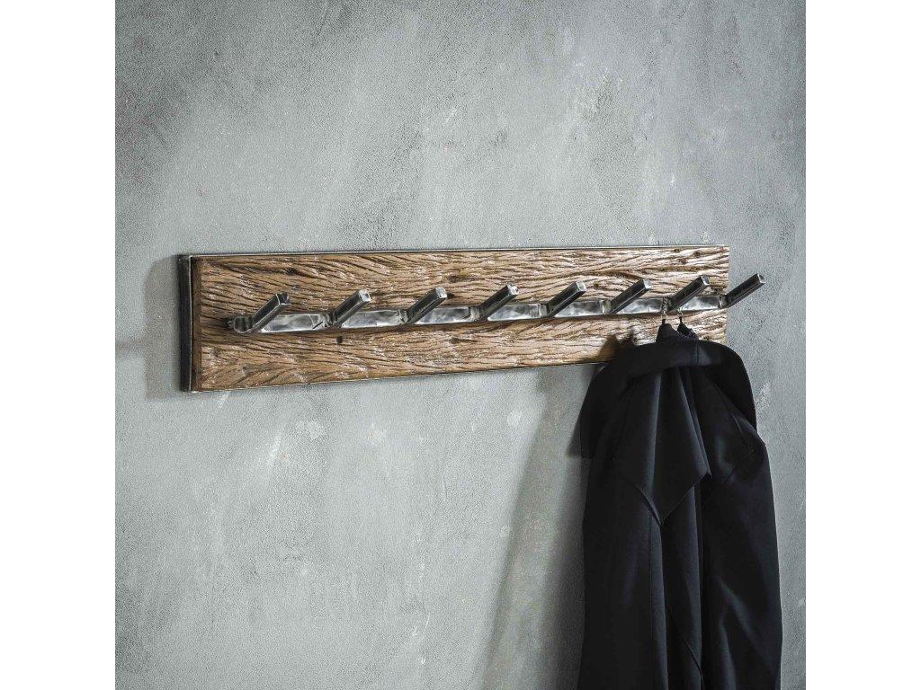 dřevěný věšák GRAINED 8 háčků,