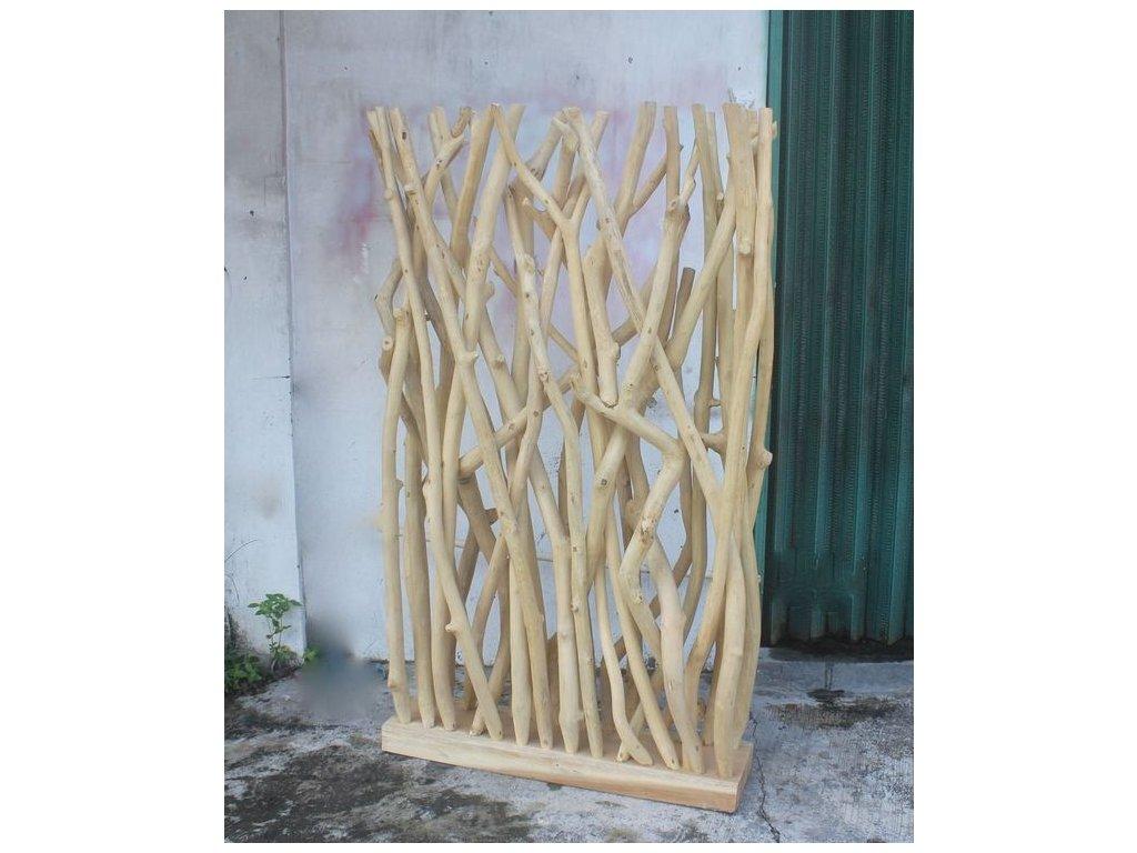 paraván teakové dřevo