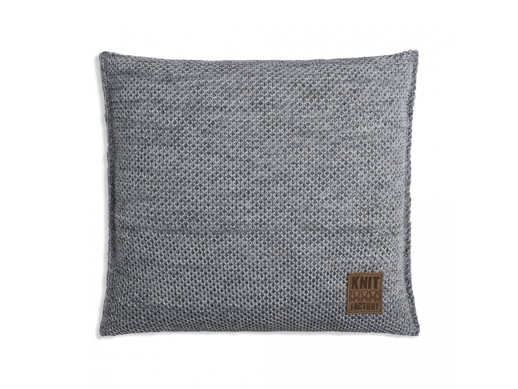 zoe cushion 50x50 light grey melee 1781001 en G