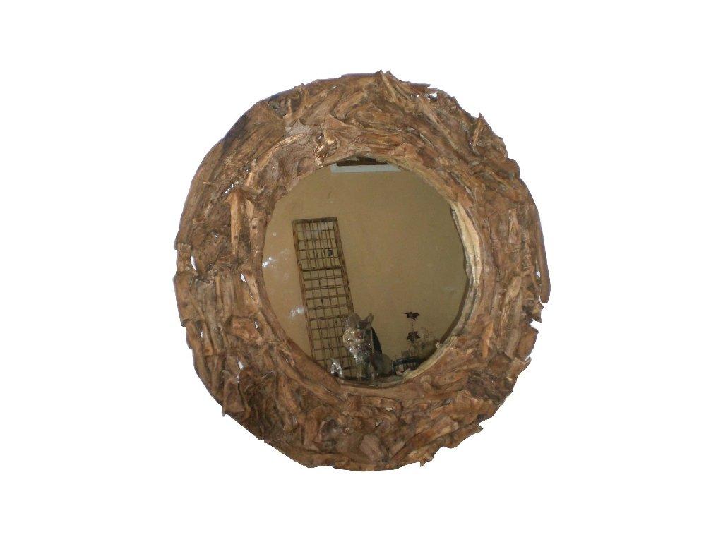 kulaté dřevěné zrcadlo OYOT