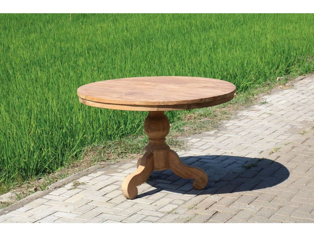 teakový stůl kulatý LESUNG