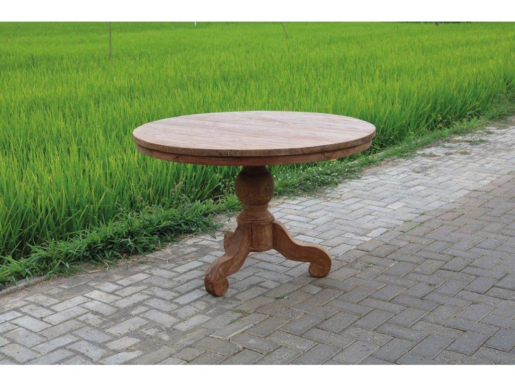 teakový stůl kulatý DENGKLEH