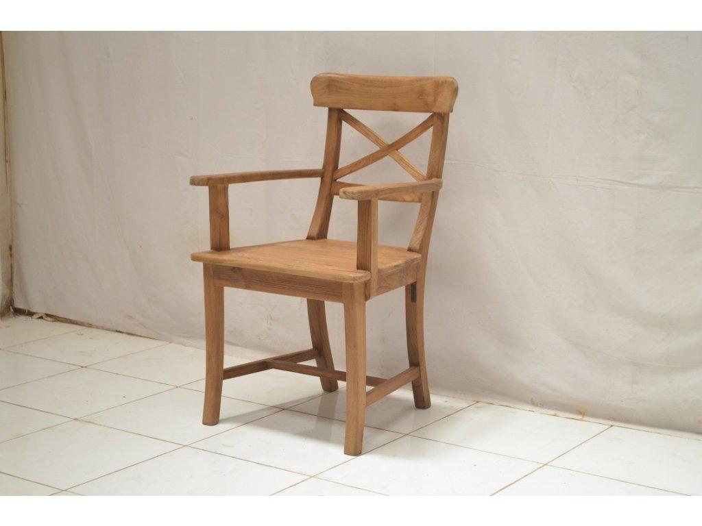 teaková židle MARIOTO s područkami