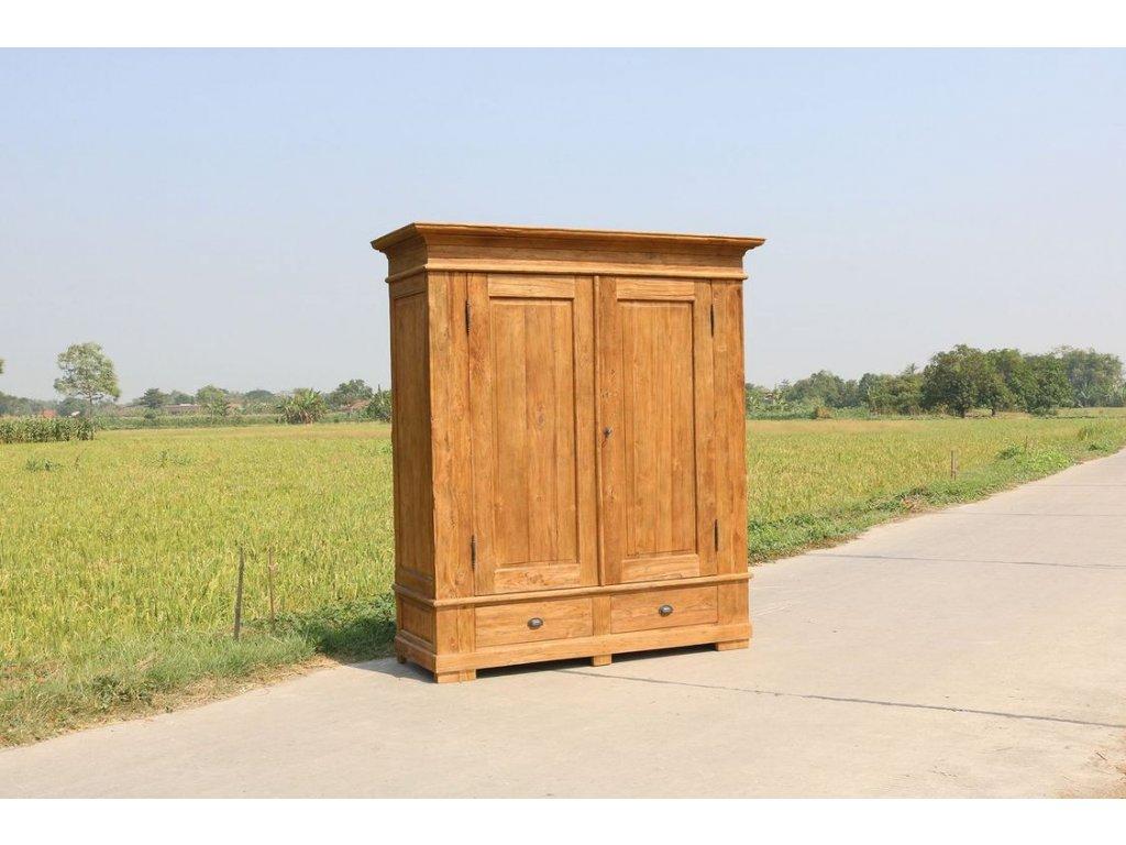 teaková šatní skříň OLD