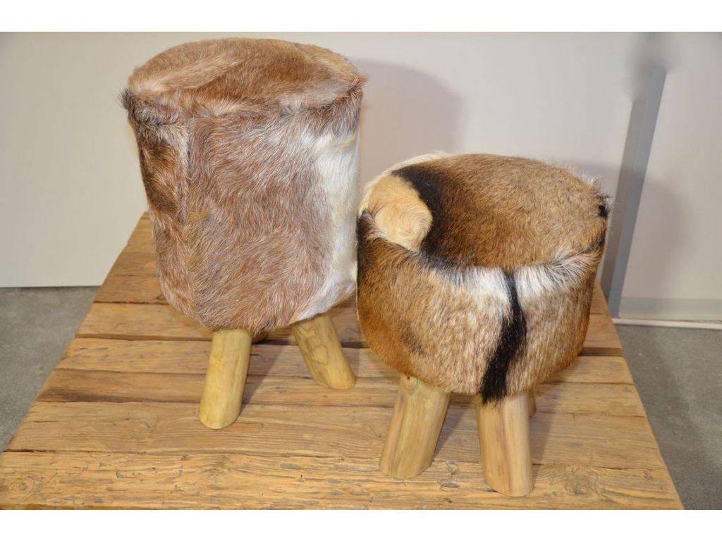 stolička potažená kůží