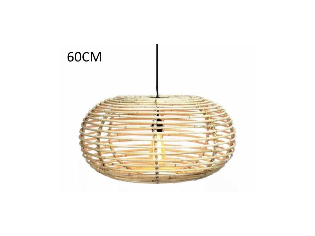 ratanová lampa BLOND, oválná, dia 60, v-30 cm