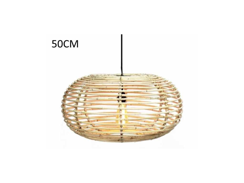 ratanová lampa BLOND, oválná, dia 50, v-30 cm