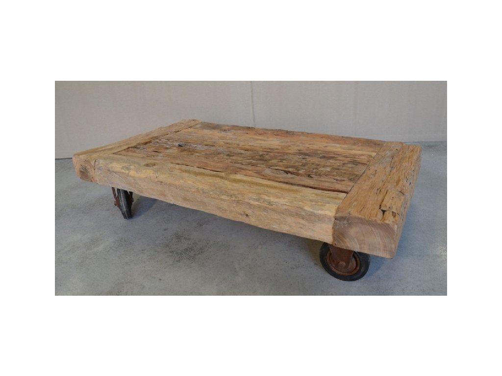 teakový stolek RAILWAY