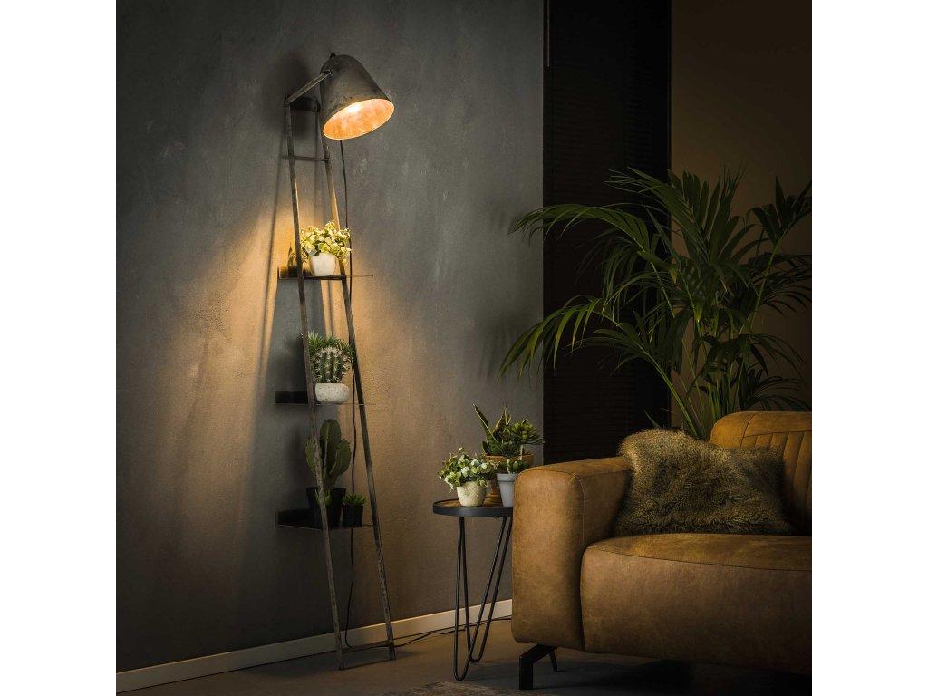 lampa ke stěně, old silver