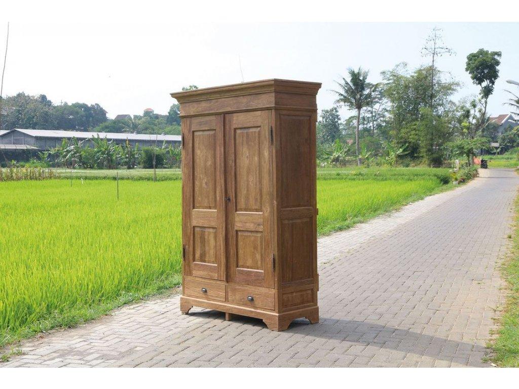 teaková šatní skříň DEDY KASAR
