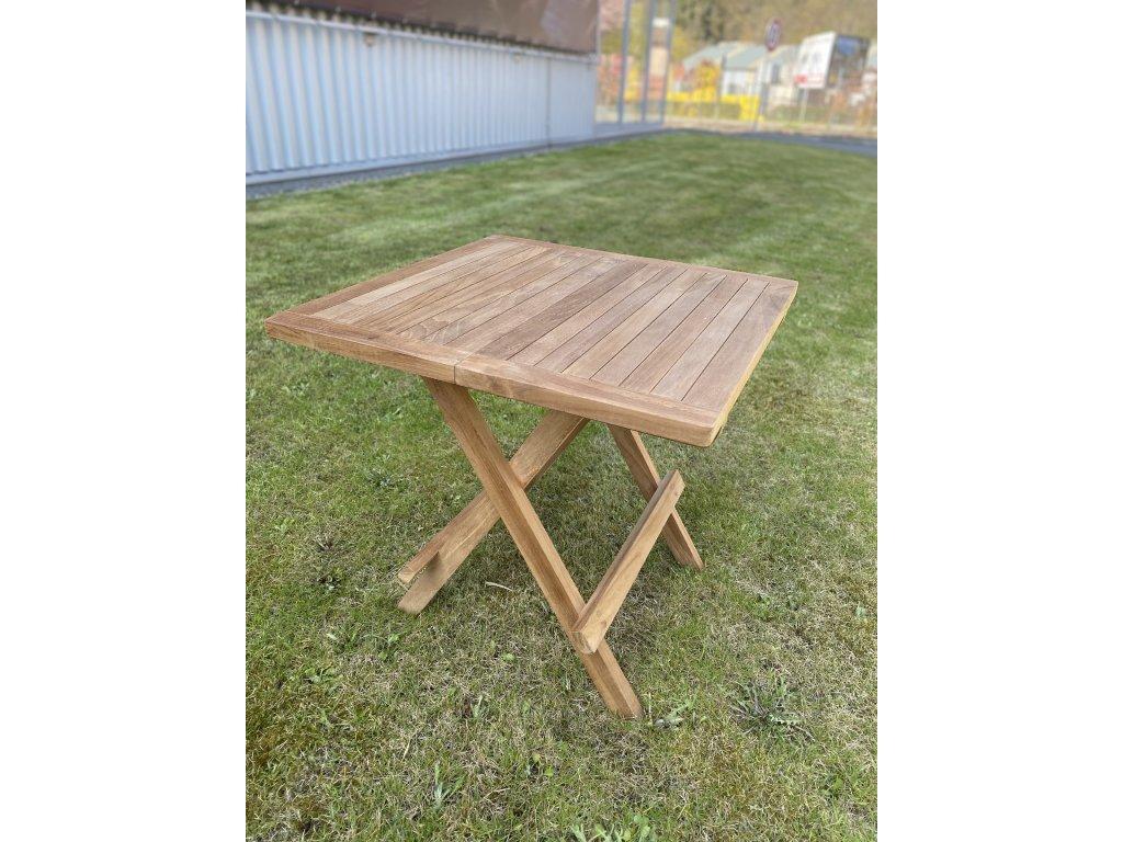 skládací piknikový stolek OTP003 - teak