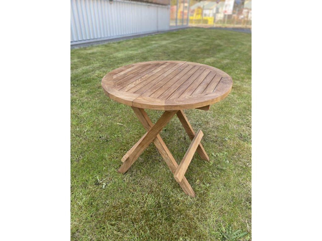 skládací piknikový stolek OTP004 - teak
