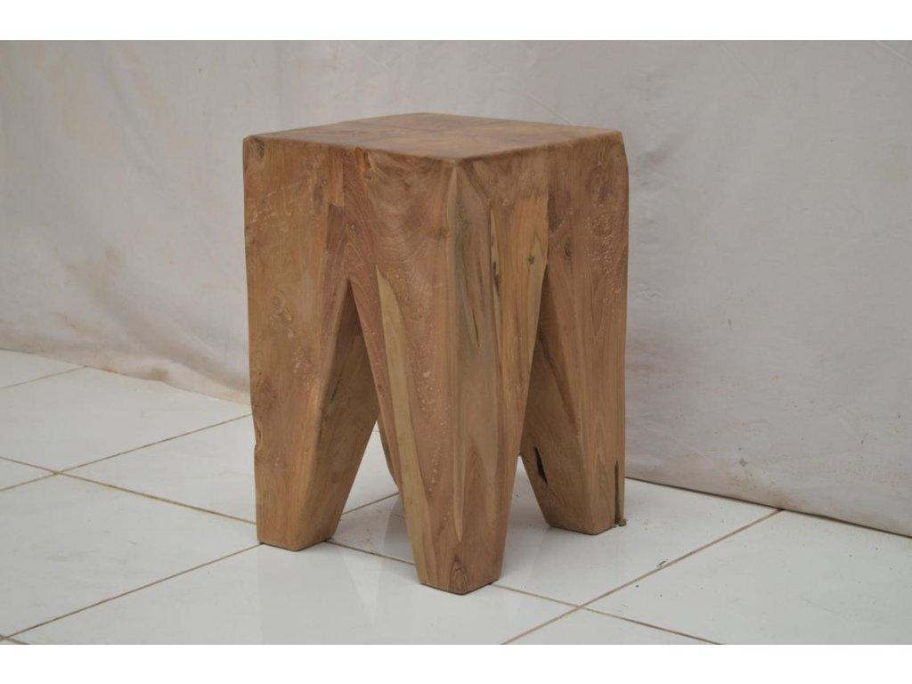 teakový stoleček SQUARE