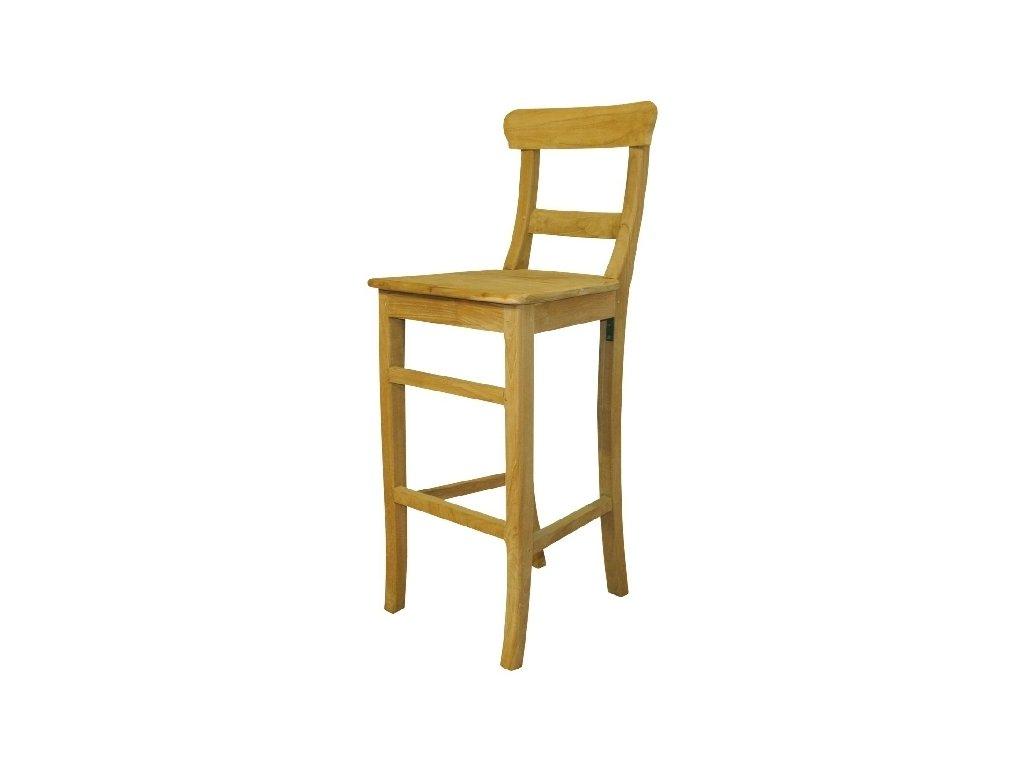 teaková barová židle Nona