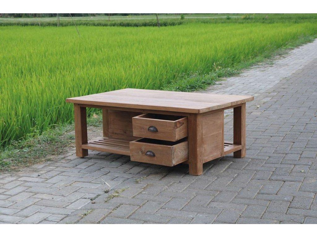 teakový konferenční stolek KEBOF