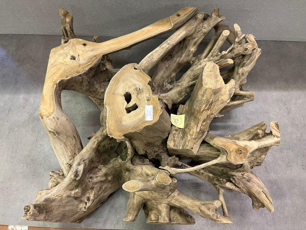 teakový konferenční stolek ROOT SQUARE