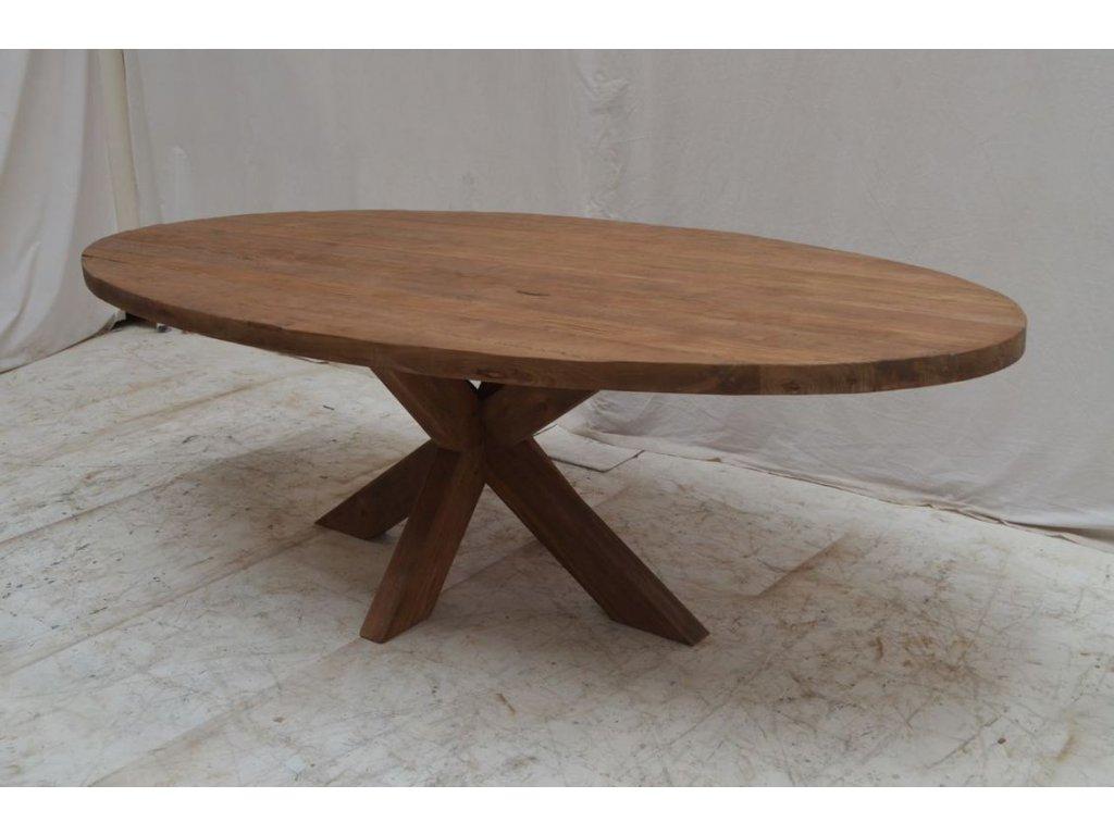 teakový oválný stůl BULAT