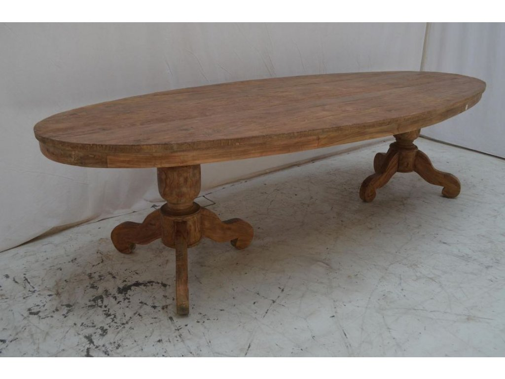 teakový oválný stůl DENGKLEH
