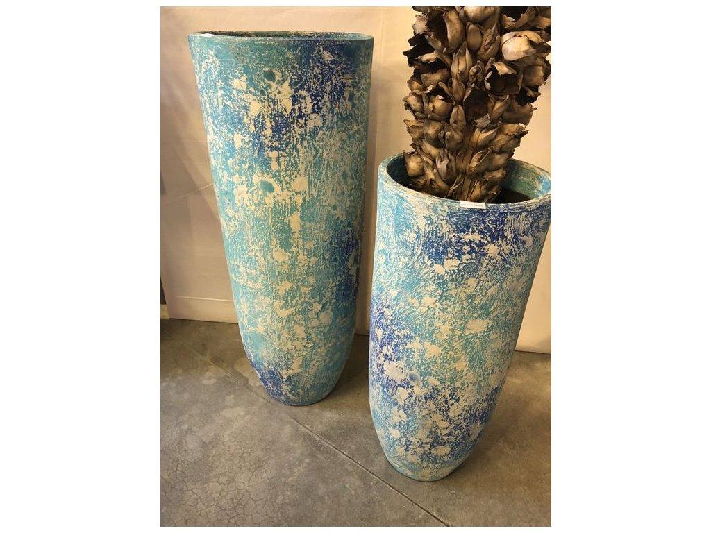 keramická váza GELAS BLUE v- 78cm