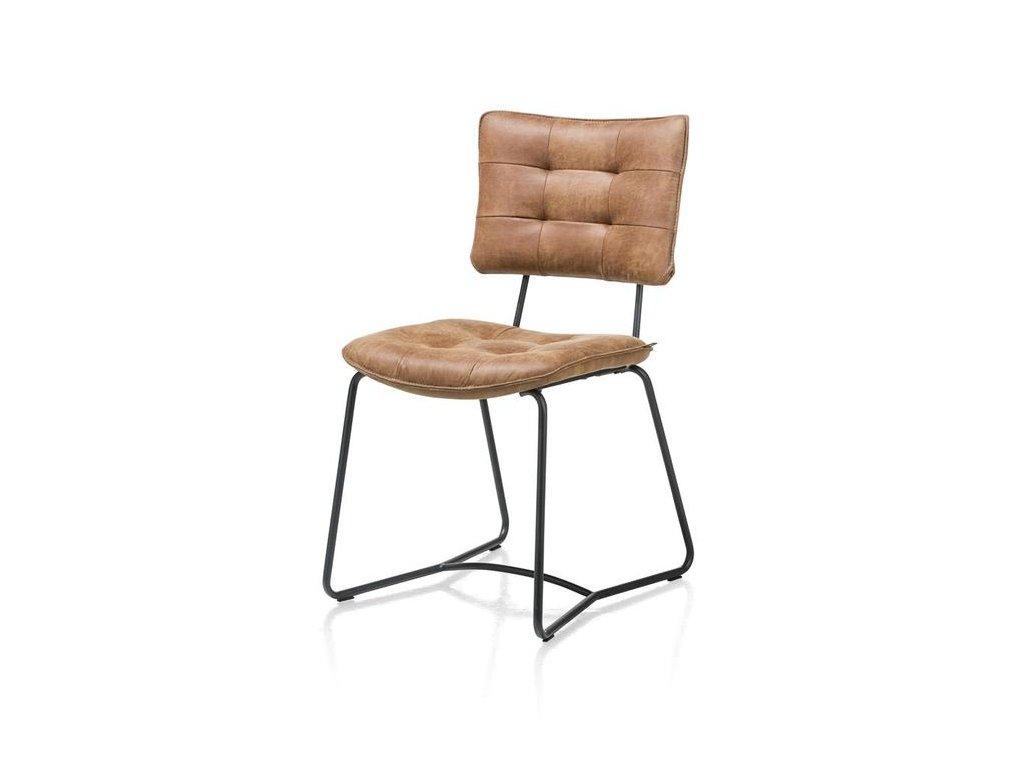 polstrovaná židle JULLA - koňaková