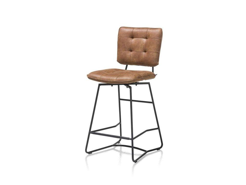 polstrovaná barová židle JULLA - koňaková