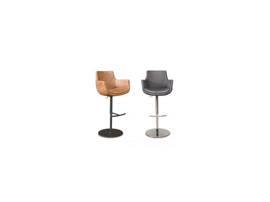 kožená barová židle ANABELA