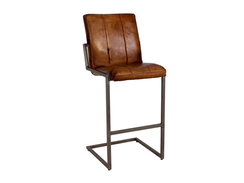 kožená industrální barová židle ILC102