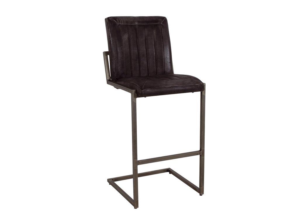 kožená industrální barová židle ILC107