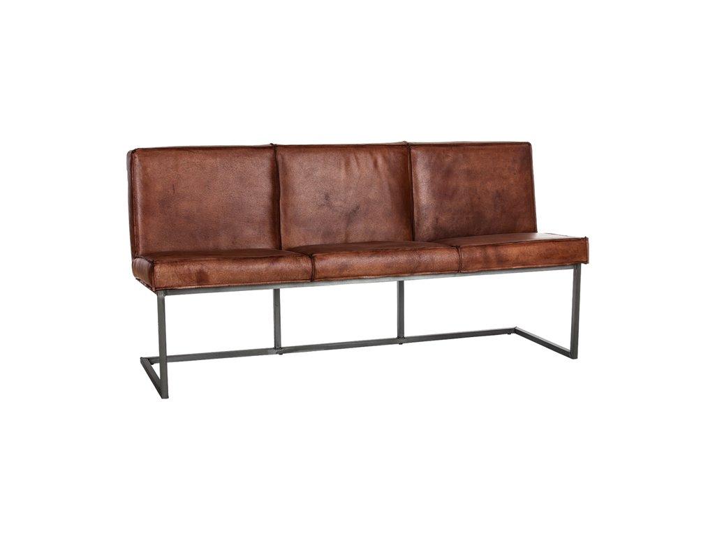 industriální polstrovaná lavice s kůží - ODC846