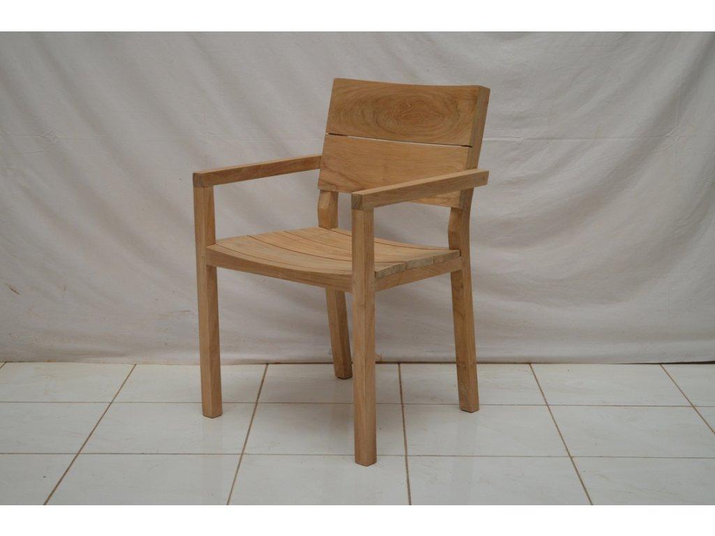 teaková židle ARYA s područkama