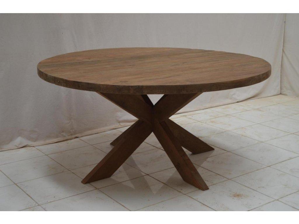 teakový kulatý stůl BEEK
