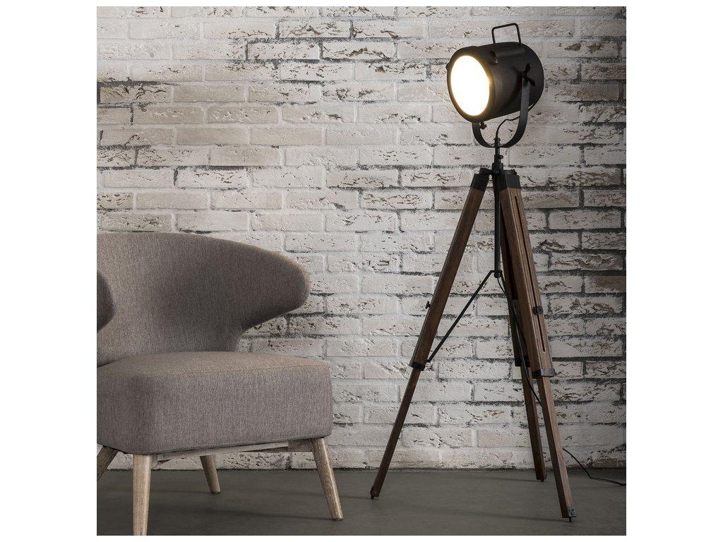 stojatá lampa tripod vintage